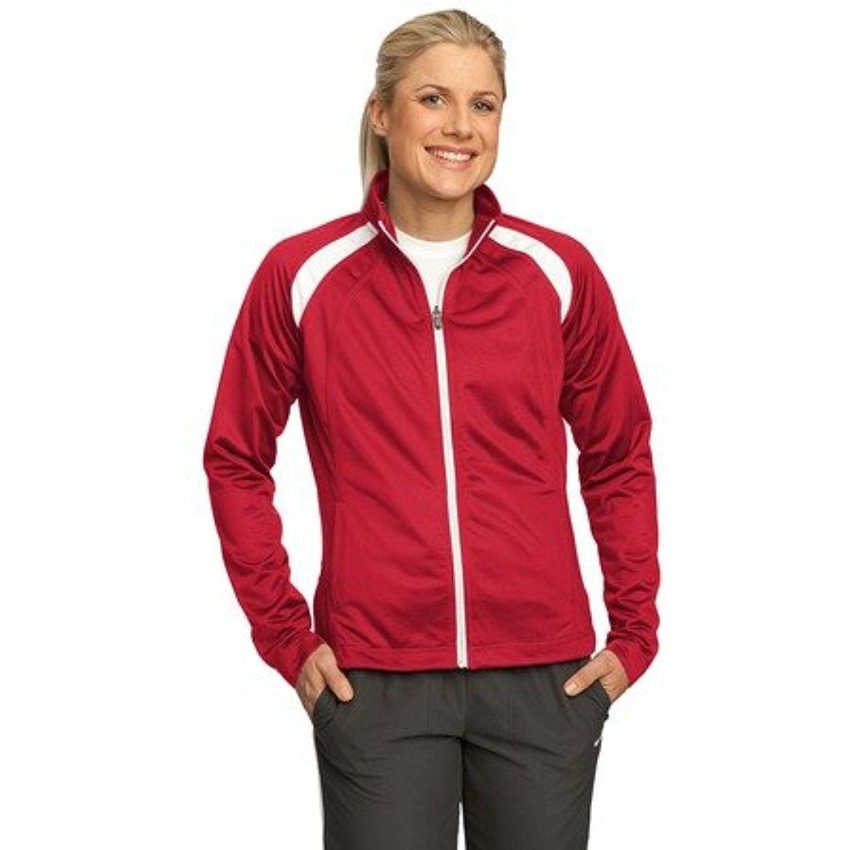 SportTek Women's LongSleeve Full Zip Polyester Athletic