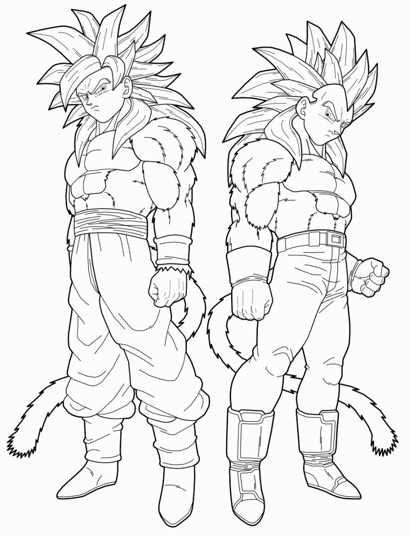 Pokemon z coloring pages - Goku And Vegeta Son Goku Goku Super Super Saiyan Goku Coloring For Kids Coloring Pages Dragon Ball Z Pokemon Color