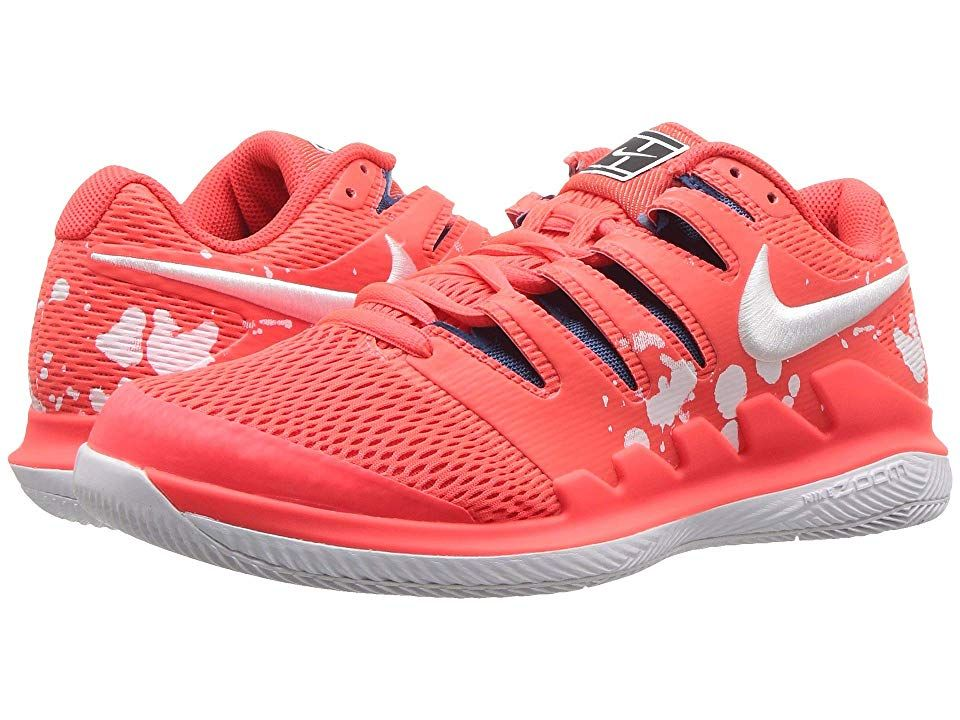 Nike Air Zoom Vapor X Bright Crimson White Industrial Blue Women S Tennis Shoes Bring Speed And Agili With Images Platform Tennis Shoes Nike Air Zoom White Tennis Shoes