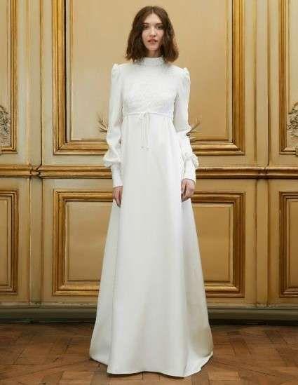resultado de imagen de vestidos de novia con cuello camisero