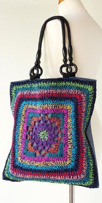 56+ Awesome Granny Square Crochet Bag Pattern Ideas – Page 16 of 56