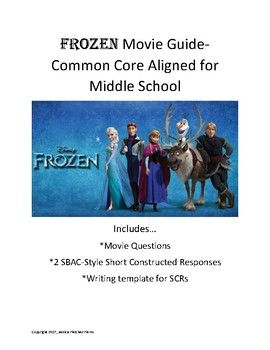 frozen study guide common core aligned for middle school pinterest rh pinterest com Anthem Study Guide Questions Macbeth Study Guide Questions