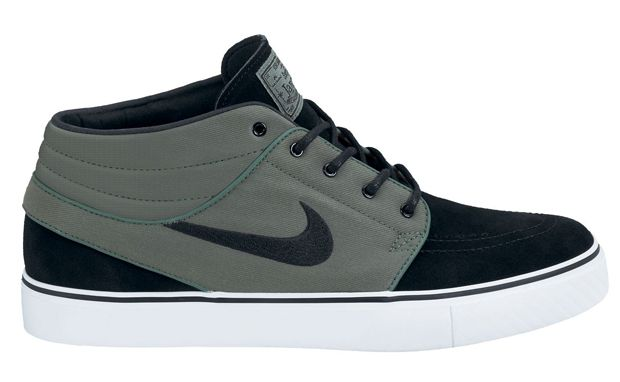 Sporting the seaweed green but not the seaweed smell, the Nike SB Zoom  Stefan Janoski Mid