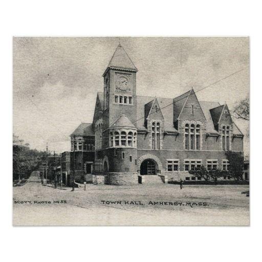 City Hall Amherst Massachusetts Vintage City Hall Romanesque Architecture Amherst