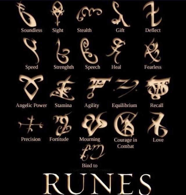 The Mortal Instruments City Of Bones Runes