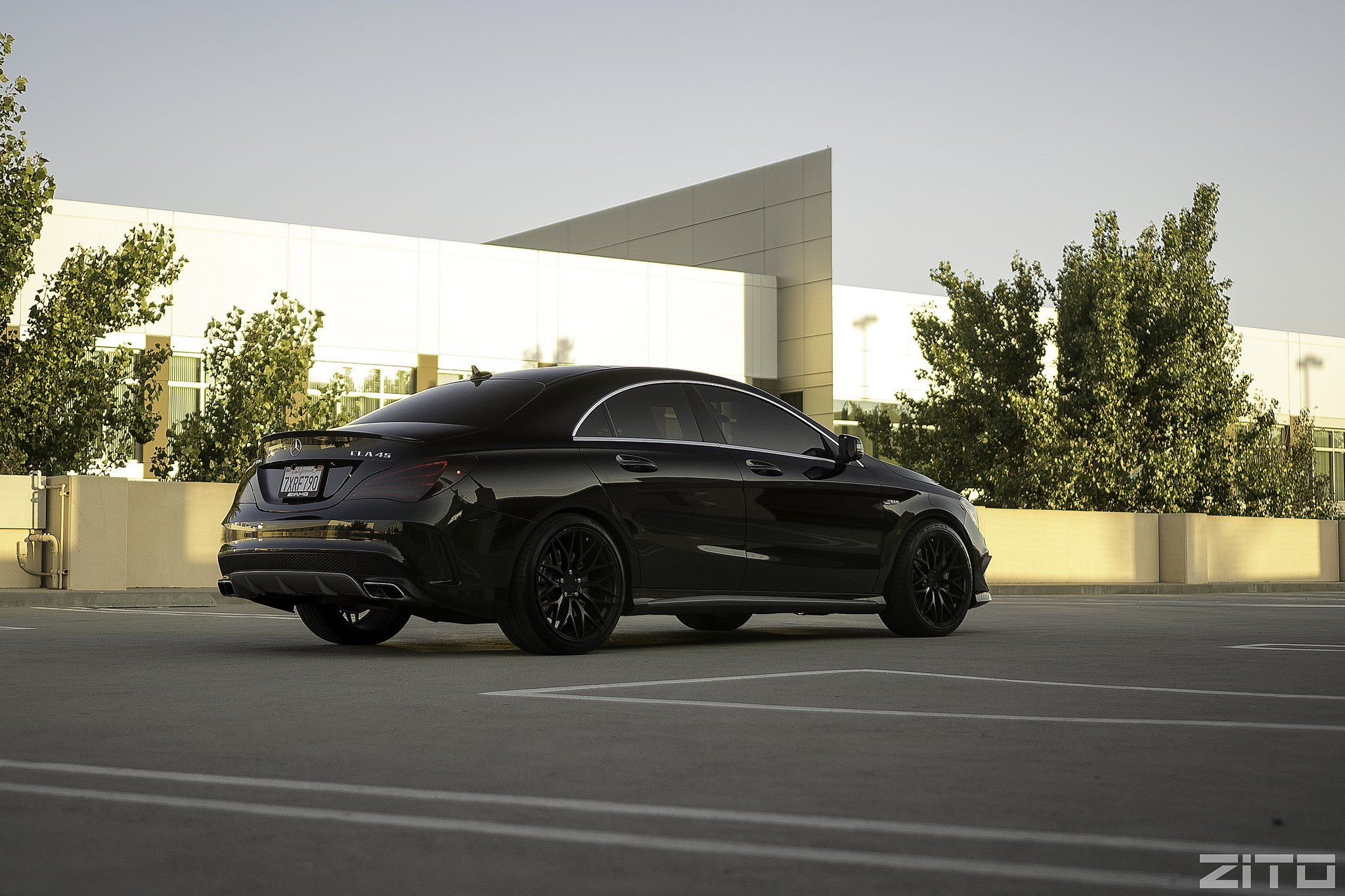 Thrilling Murdered Out Custom Mercedes Cla Class Custom Mercedes