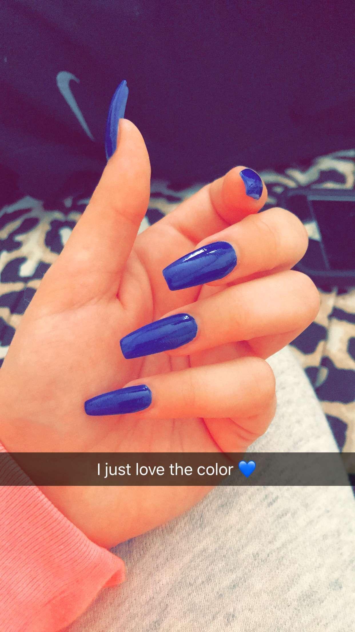 Do Acrylic Nails At Home Blue Acrylic Nails Matte Acrylic Nails Blue Nails