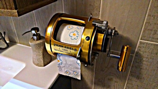 Fishing Reel Toilet Paper Holder