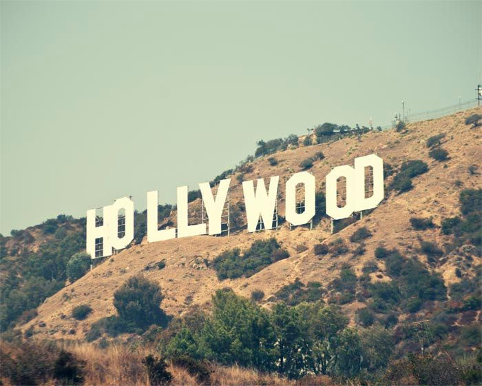 Hollywood Sign Photograph Los Angeles California Wall Art Retro Summer Iconic
