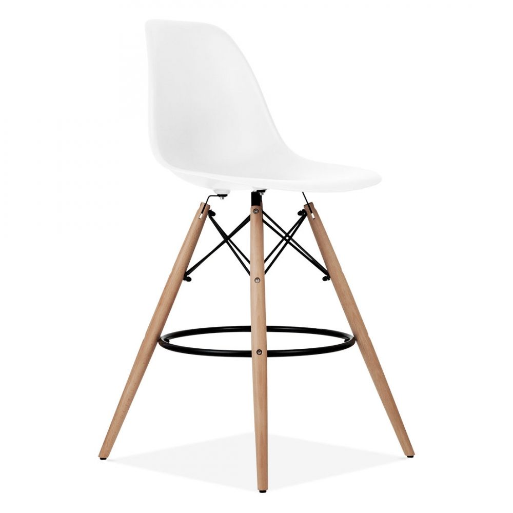 Iconic Designs Eames Style DSW Stool White 71 cm (With