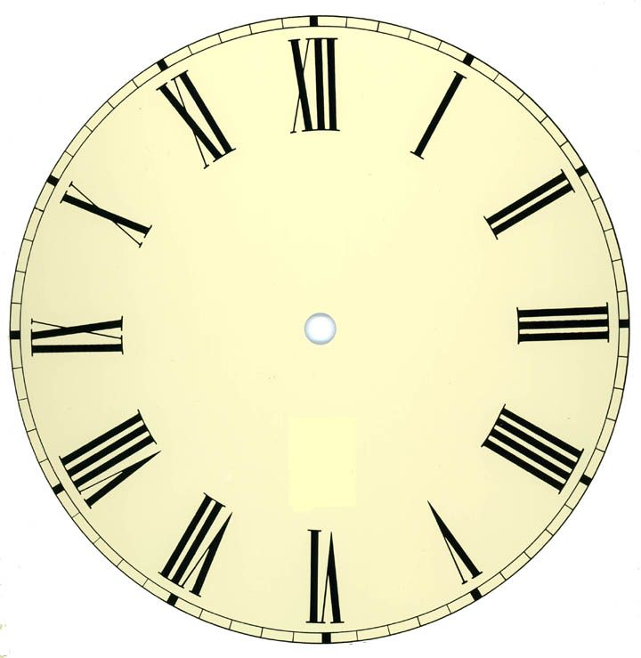 photo regarding Roman Numeral Stencil Printable known as Printable Clock Facial area Alton Company Clock Awards