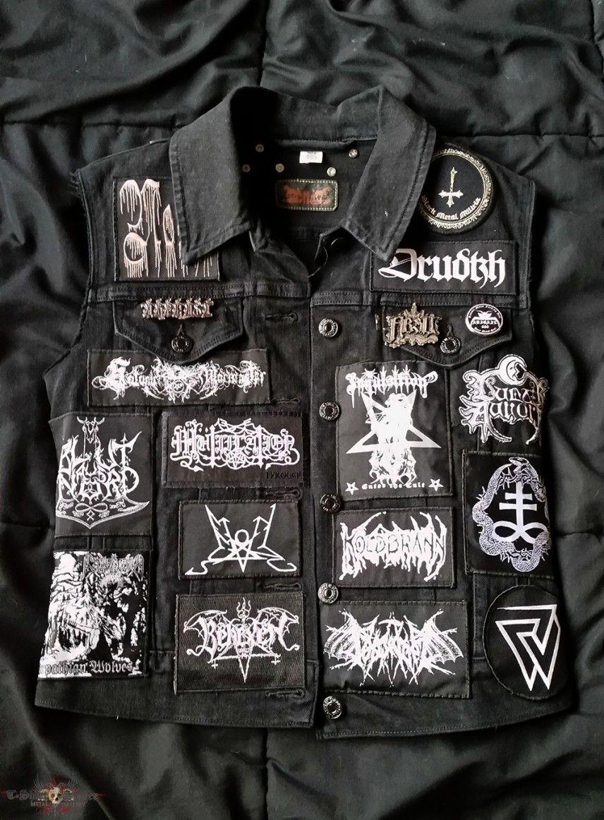 RJs Baptism Sigh URFAUST Black Metal Vest Battle