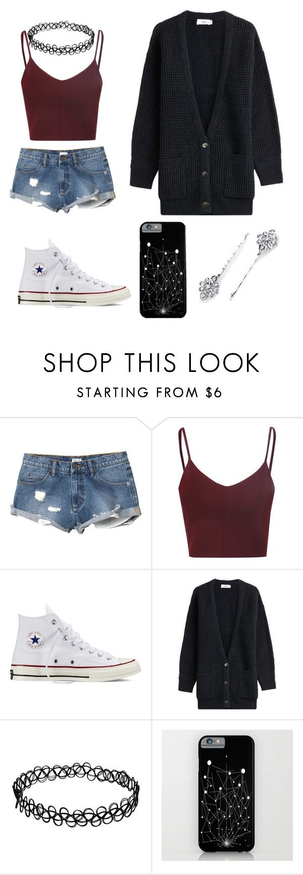 """living in a different dimension"" by syperstartasha ❤ liked on Polyvore featuring RVCA, Glamorous, Converse, Closed, 1928, women's clothing, women, female, woman and misses"
