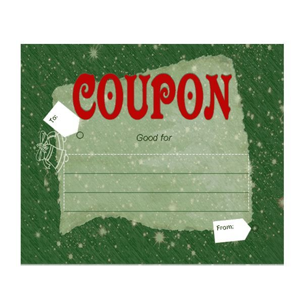 Make Your Own Customizable Coupon Book Free Printables Desktop - christmas gift certificate template free