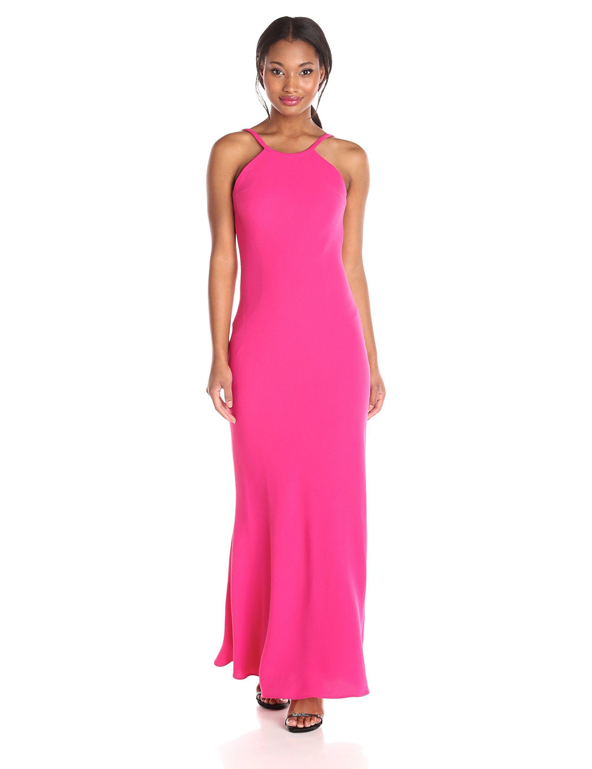 Calvin Klein Women\'s Halter Gown, Hibiscus, 2 | prom 2016 | Pinterest
