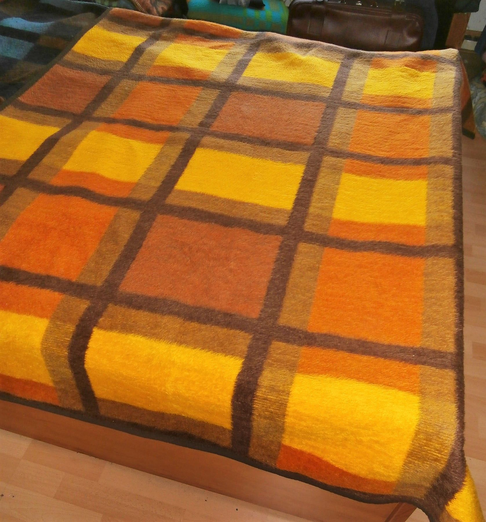 Prop Woolblanket Retroblankets Blanketmuseum Instagram 50s 60s Production Oudedekens Vintageblanket Vintagedeken Retrodeken Wolldecke Stoffe Decke