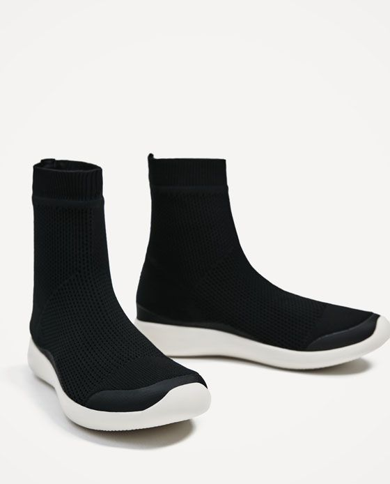 uk availability bb9bf d83f5 ZARA - WOMAN - SOCK SNEAKERS Calcetines, Zapatos De Moda, Tenis, Deportes,