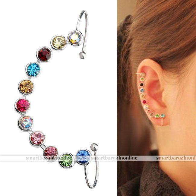 Womens Lady Ear Cuff Wrap Irregular Clip Earring Cartilage