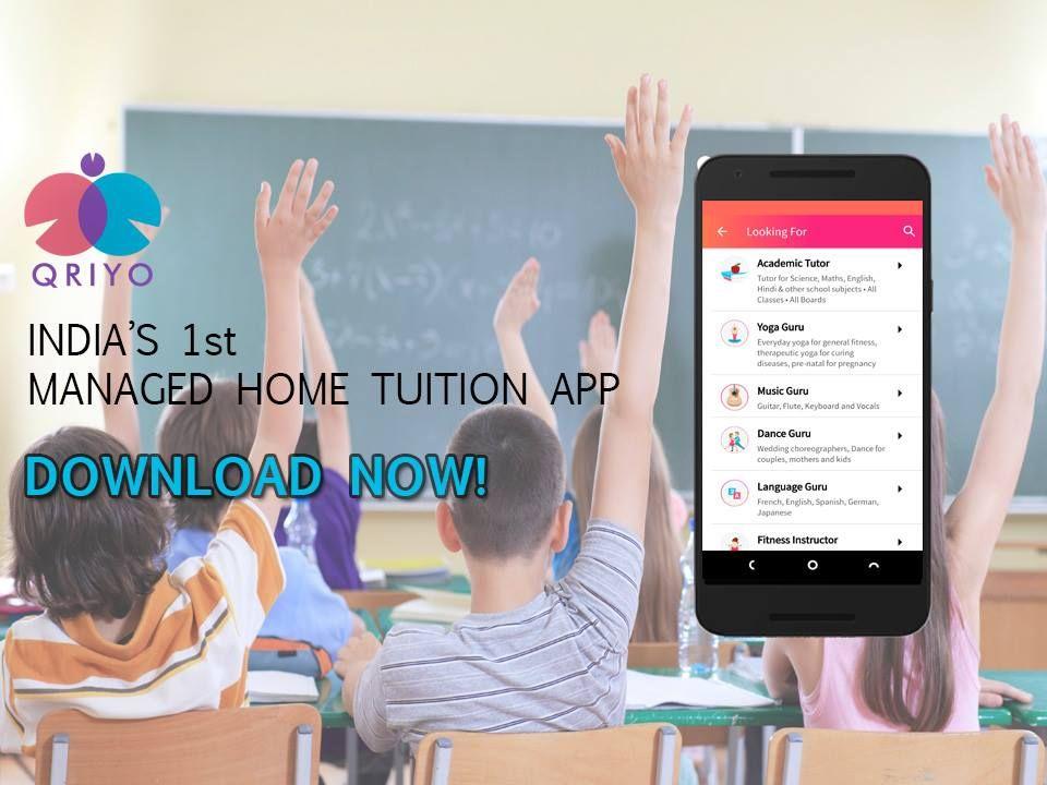 Qriyo app helps you get private tutors at your fingertips