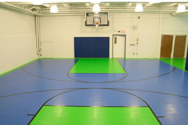 Green And Blue Indoor Multi Purpose Court Outdoor Basketball Court Basketball Room Indoor Basketball