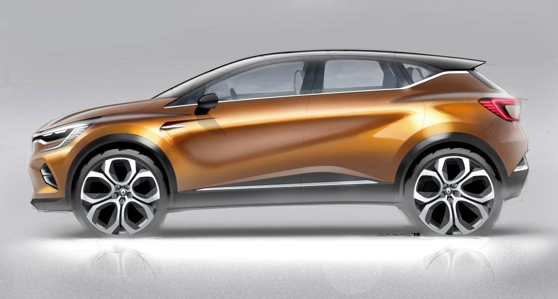 Renault Captur 2020 Cardesign Designsketch New Renault