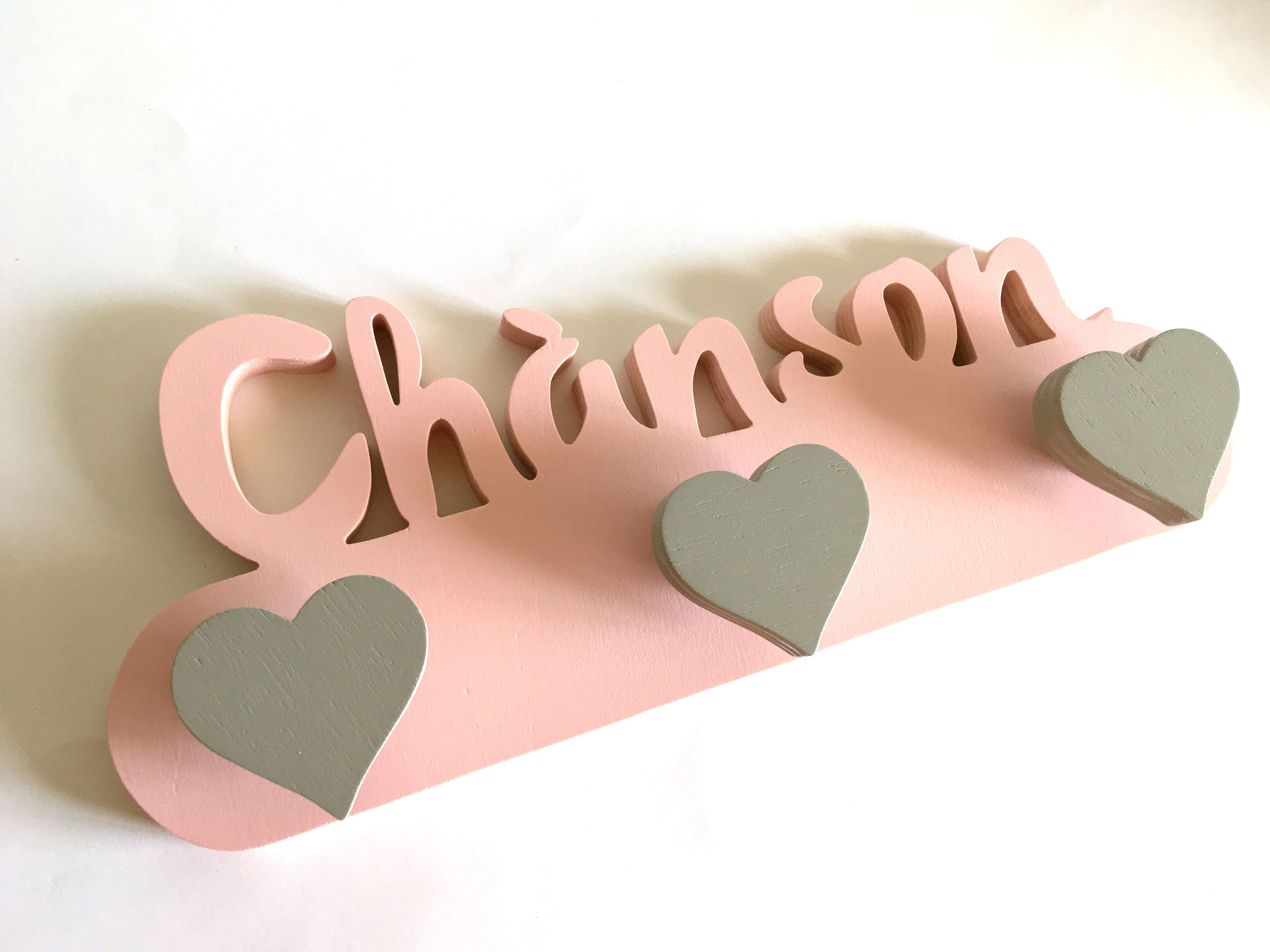 Wall Coat Rack Wooden Name Personalized Children S Decoration Childrens Decor Wooden Names Coat Rack Wall