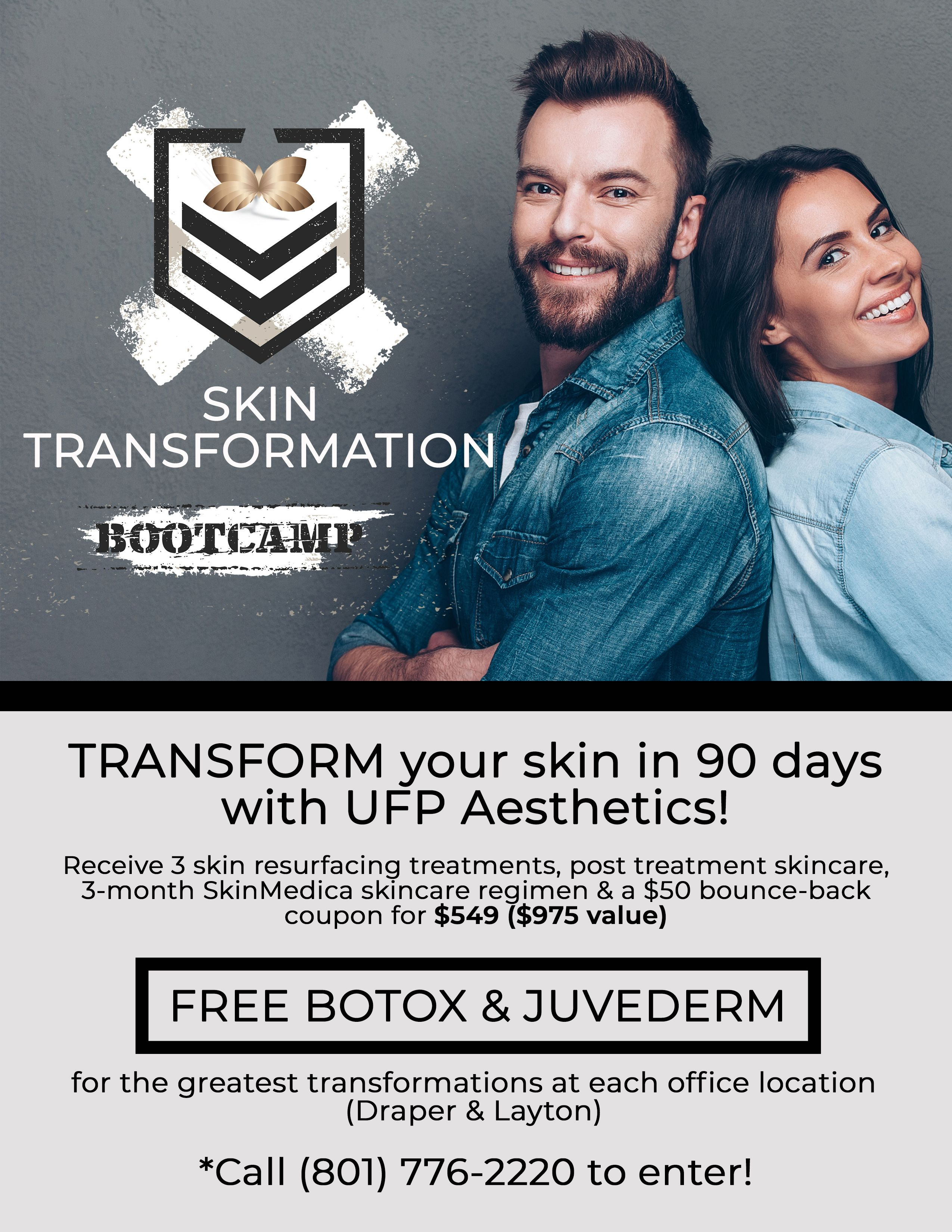 Skin Transformation Bootcamp At UFP Aesthetics 3 month skin
