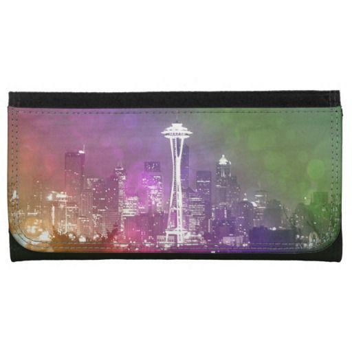 Seattle Space Needle Rainbow Wallet