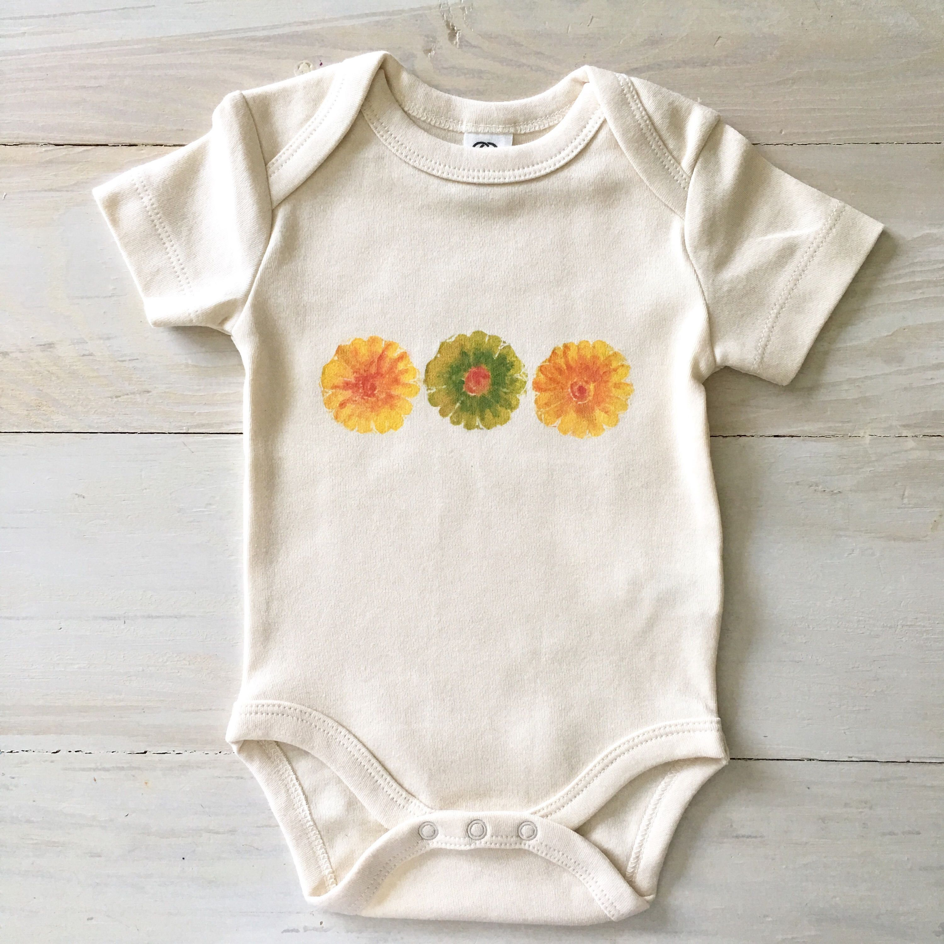 Floral Baby Girl onesie flower organic baby clothes boho baby