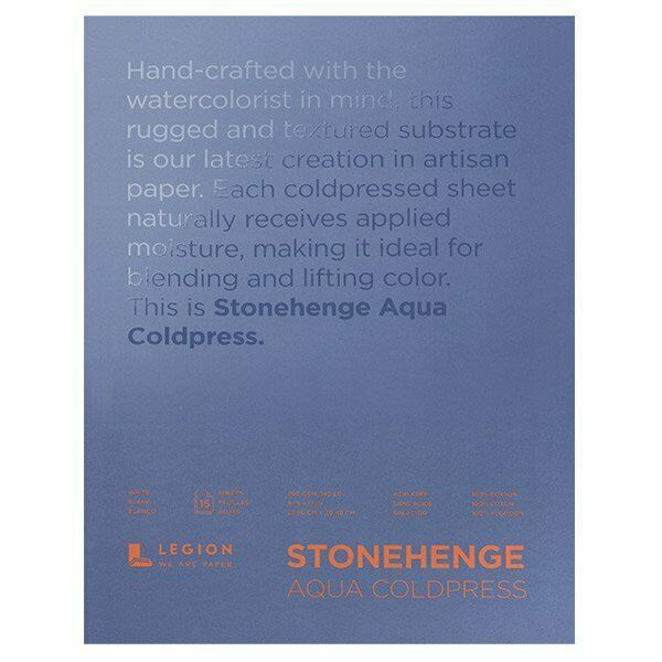 Stonehenge Aqua Watercolor Paper 140lb Cold Press 9x12 Block Of