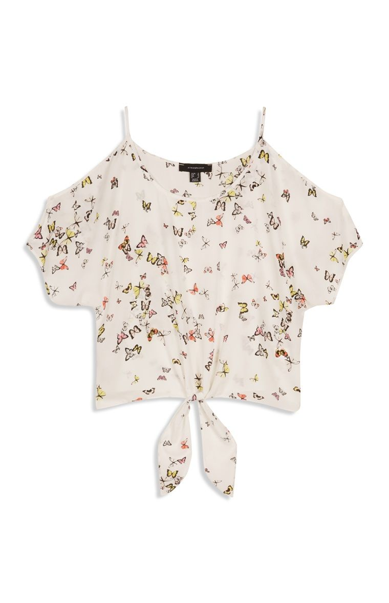 Primark - Cropped top met print en open schouders | Clothing/Outfits ...