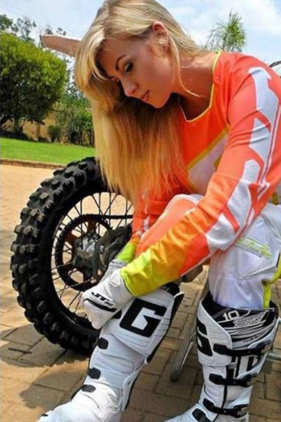 Beautiful girls and dirty bikes make for hot compilation videos