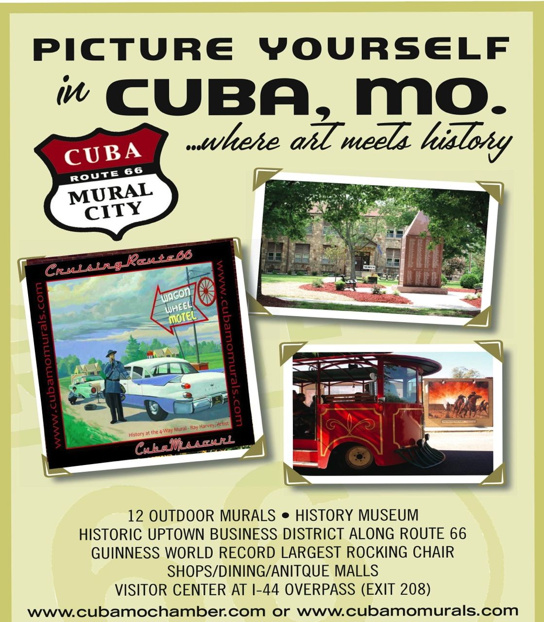 Cuba Mo Founded In 1857 Is A Small Route 66 Town With An