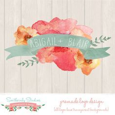 Free Watercolor Flowers For Commercial Use Watercolor Logo