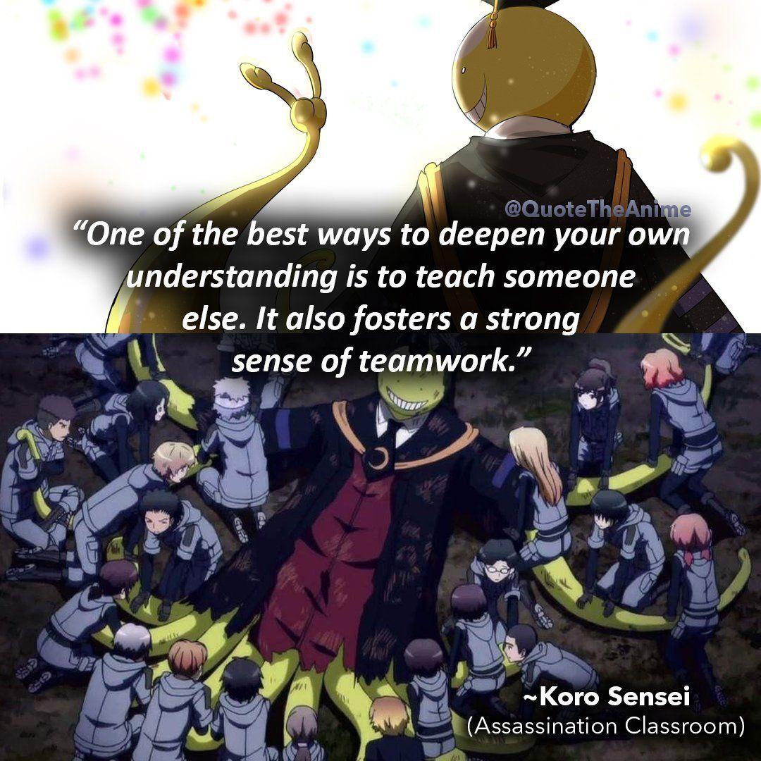 17 Powerful Assassination Classroom Quotes Images Wallpaper Assassination Classroom Classroom Quotes Koro Sensei Quotes