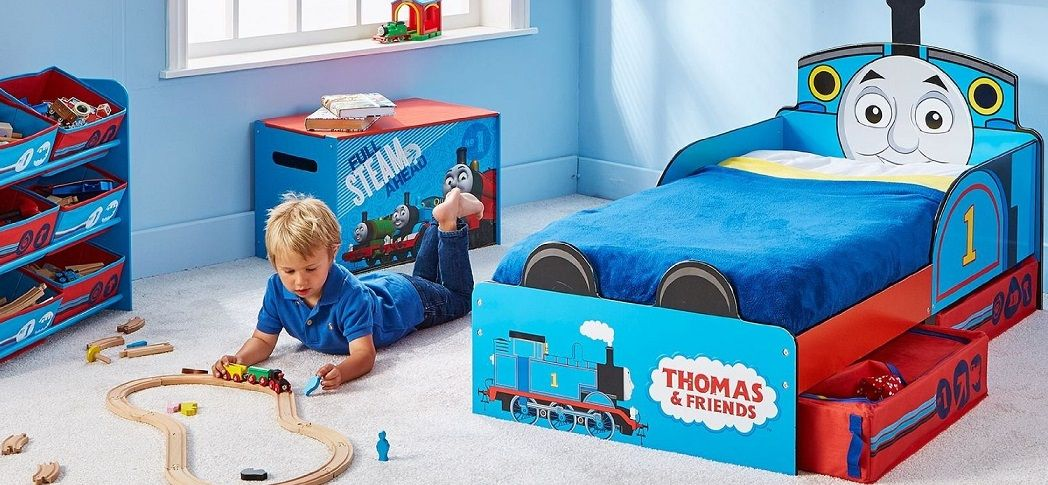Venta cama infantil madera thomas and friends con cajones for Sofa cama sin colchon