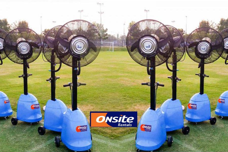 Power Breezer Mist Fan On Cooling, Commercial Outdoor Misting Fans