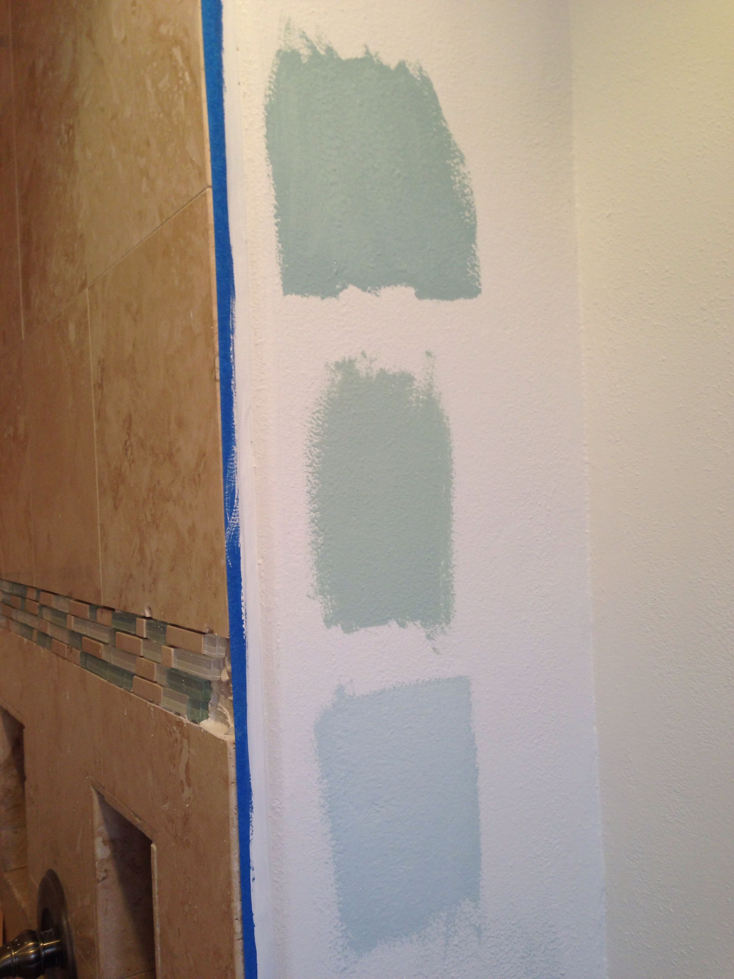 Benjamin moore palladian blue bathroom - Top To Bottom Benjamin Moore Gossamer Blue Palladian Blue Ocean Air Went