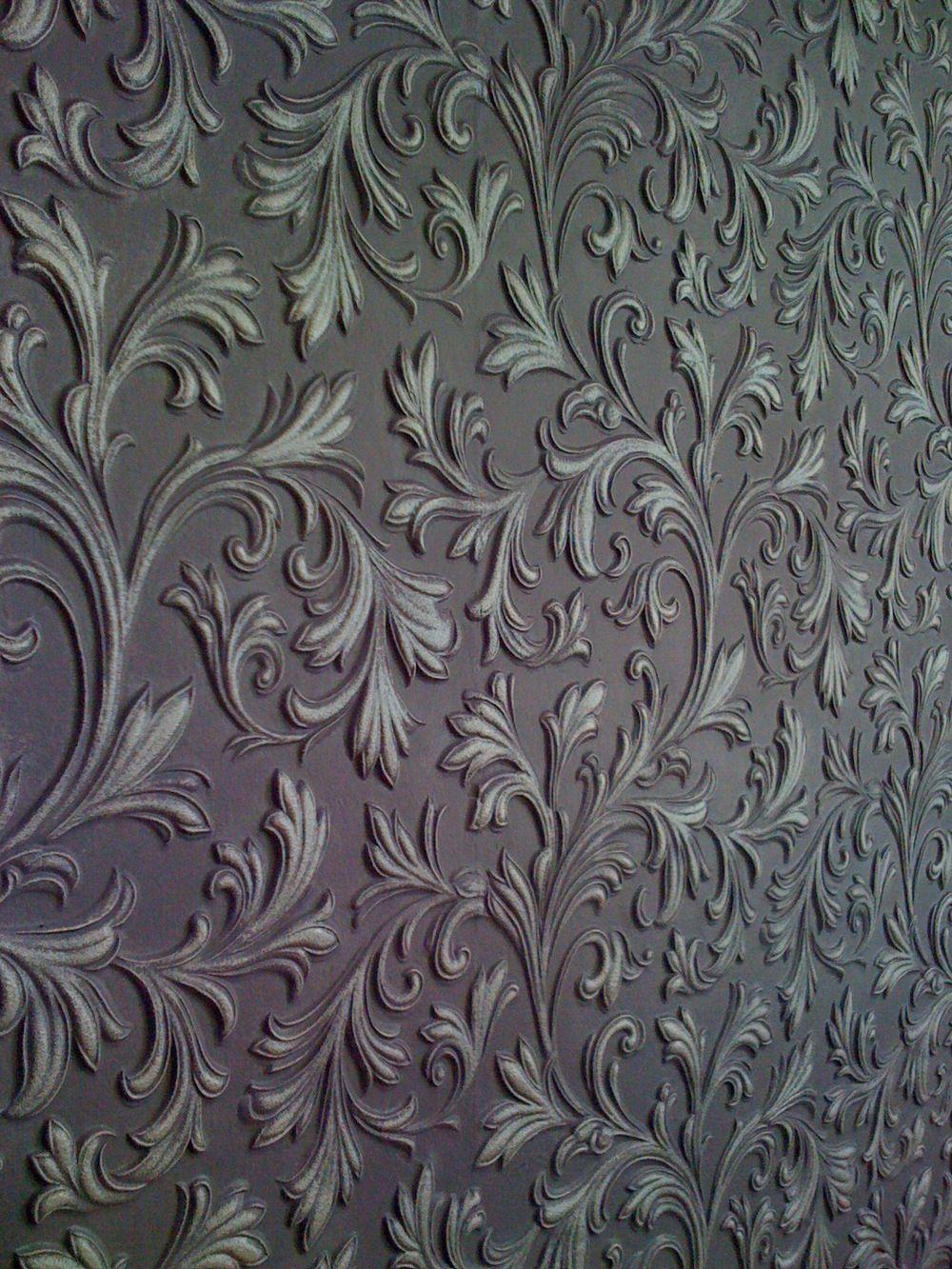Possible Two Tone Painted Lincrusta Wallpaper Below Chair Rail