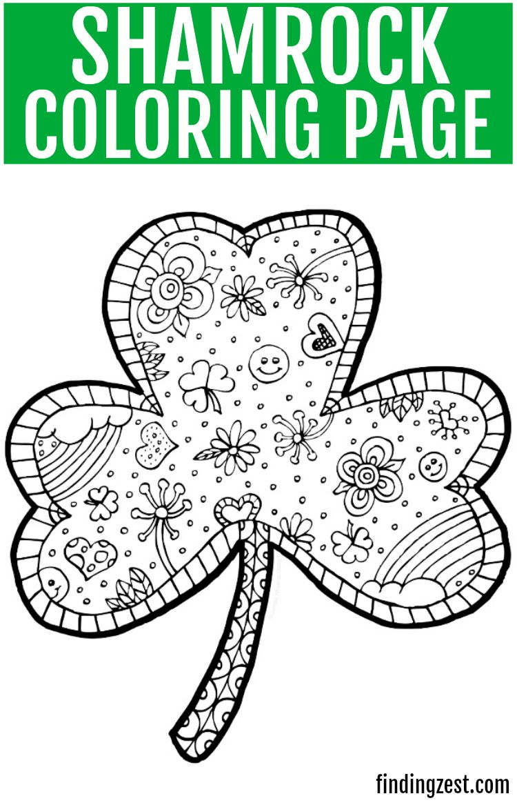 Print Out This Fun Shamrock Coloring Page Free Printable For St
