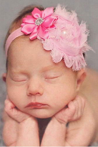 Toddler baby girls kids flower party headband hair band photo prop lovely  0U