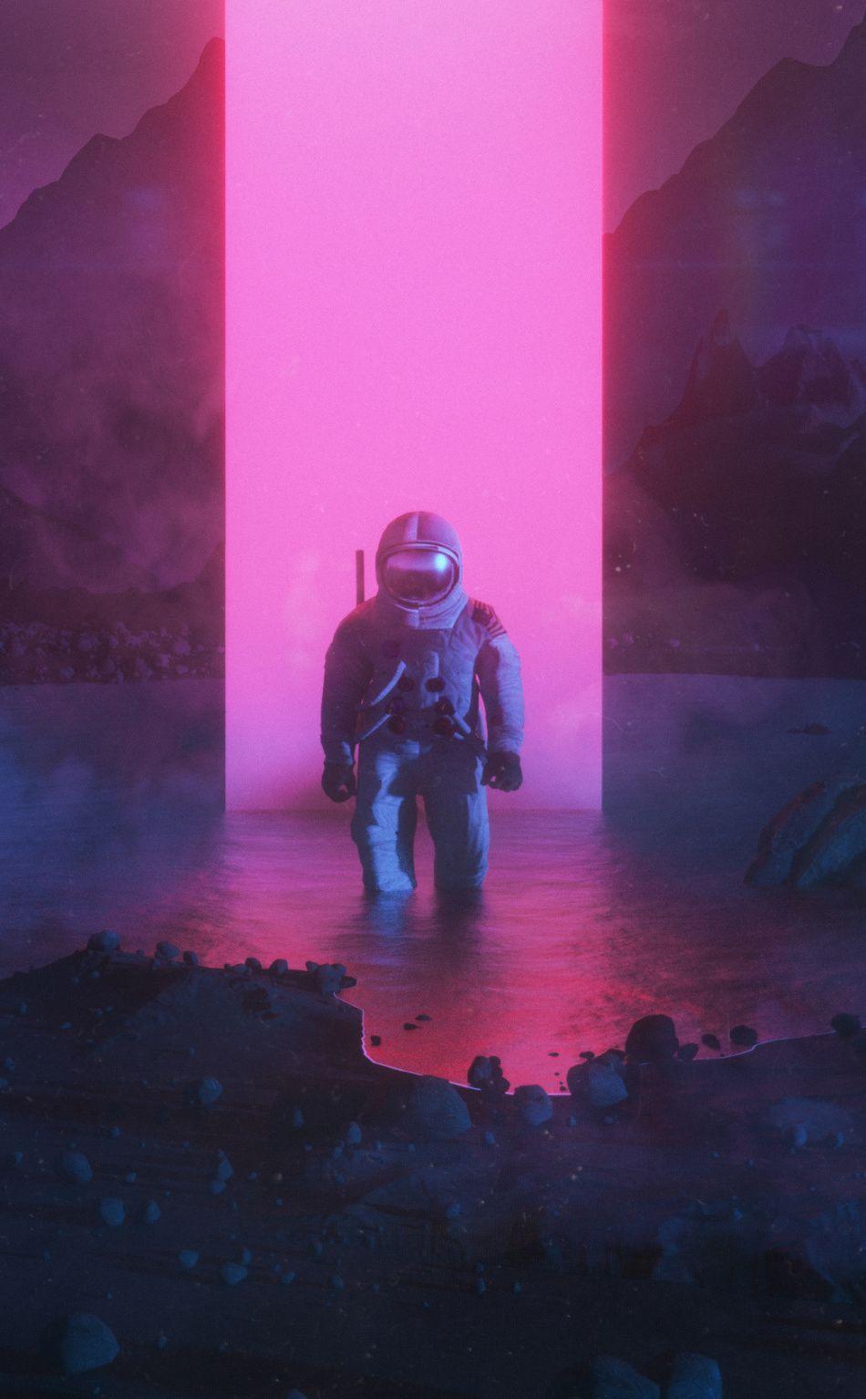 Artwork, astronaut, fantasy, 950x1534 wallpaper