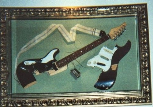 Kurt Cobain's Smashed Guitar