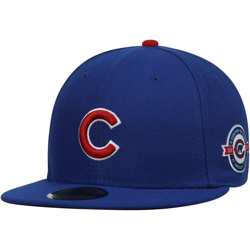 91d841081b514 Chicago Cubs New Era Wrigley Field Authentic Collection 59FIFTY Fitted Hat  - Royal