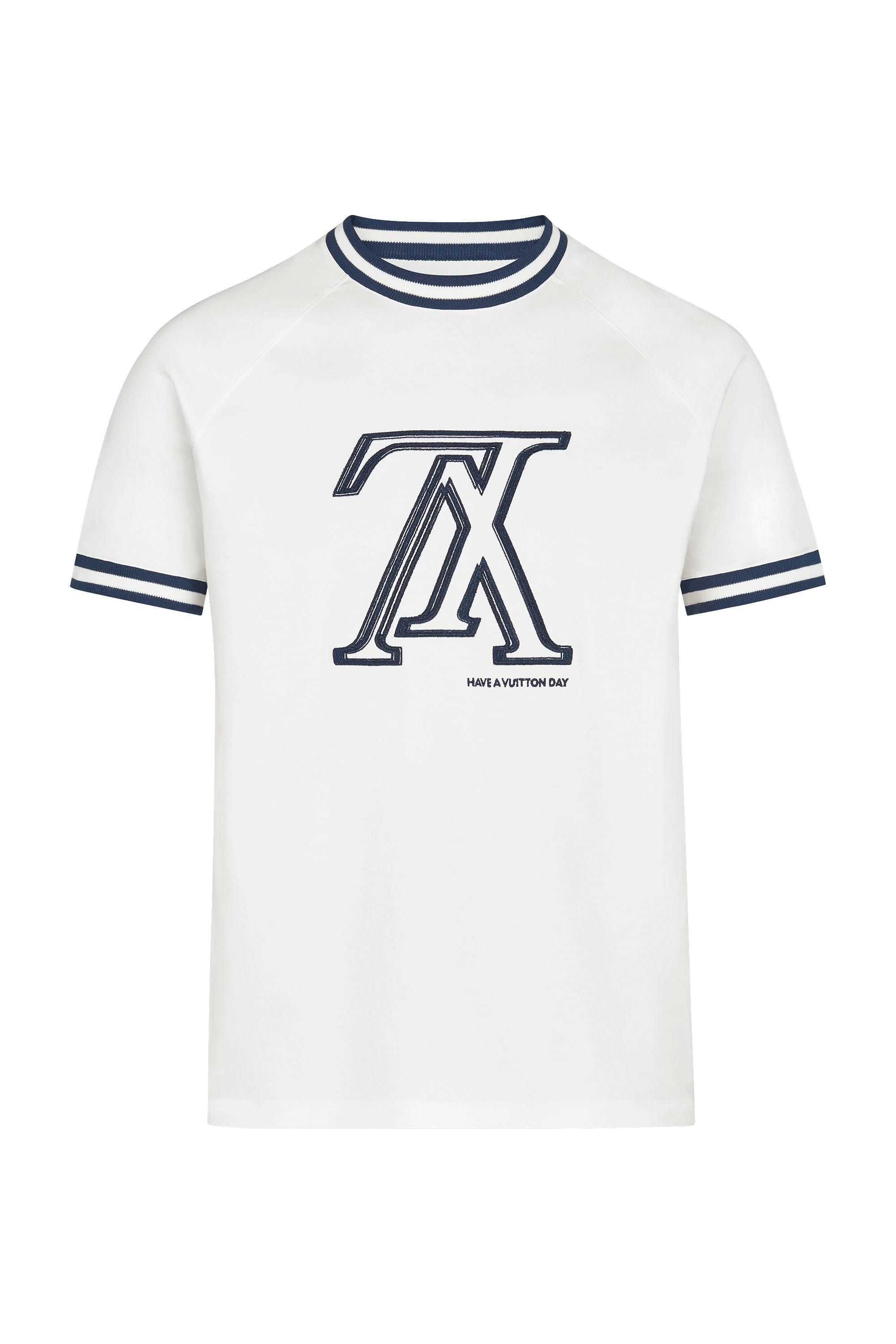 a7837facea UPSIDE DOWN LV TSHIRT WITH TIPPING in Men's Ready to Wear T-shirts ...