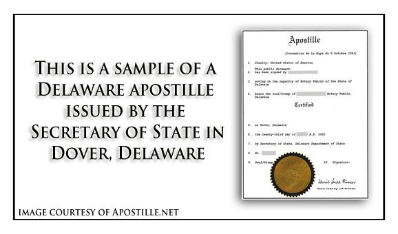 7 best state of delaware sample apostille images on pinterest yadclub Images