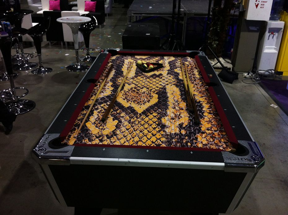 snake skin pool table... | Guy stuff... | Pinterest | Pool table ...