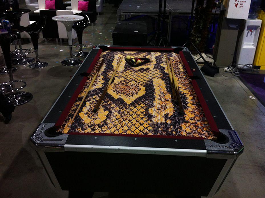 snake skin pool table... | Guy stuff... | Pinterest | Pool table ...
