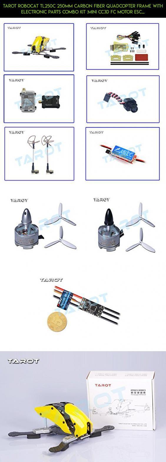 medium resolution of tarot robocat tl250c 250mm carbon fiber quadcopter frame with electronic parts combo kit mini cc3d