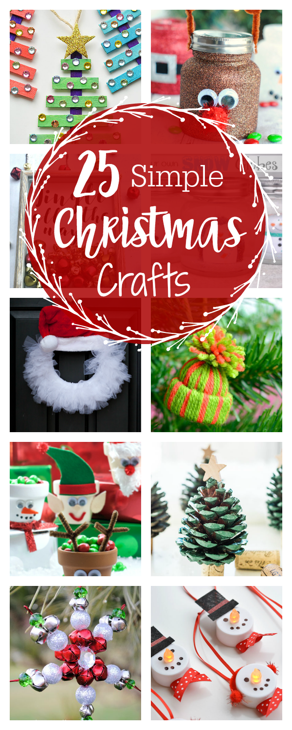 25 Cute and Simple Christmas Crafts for Everyone | // gift guides + ...